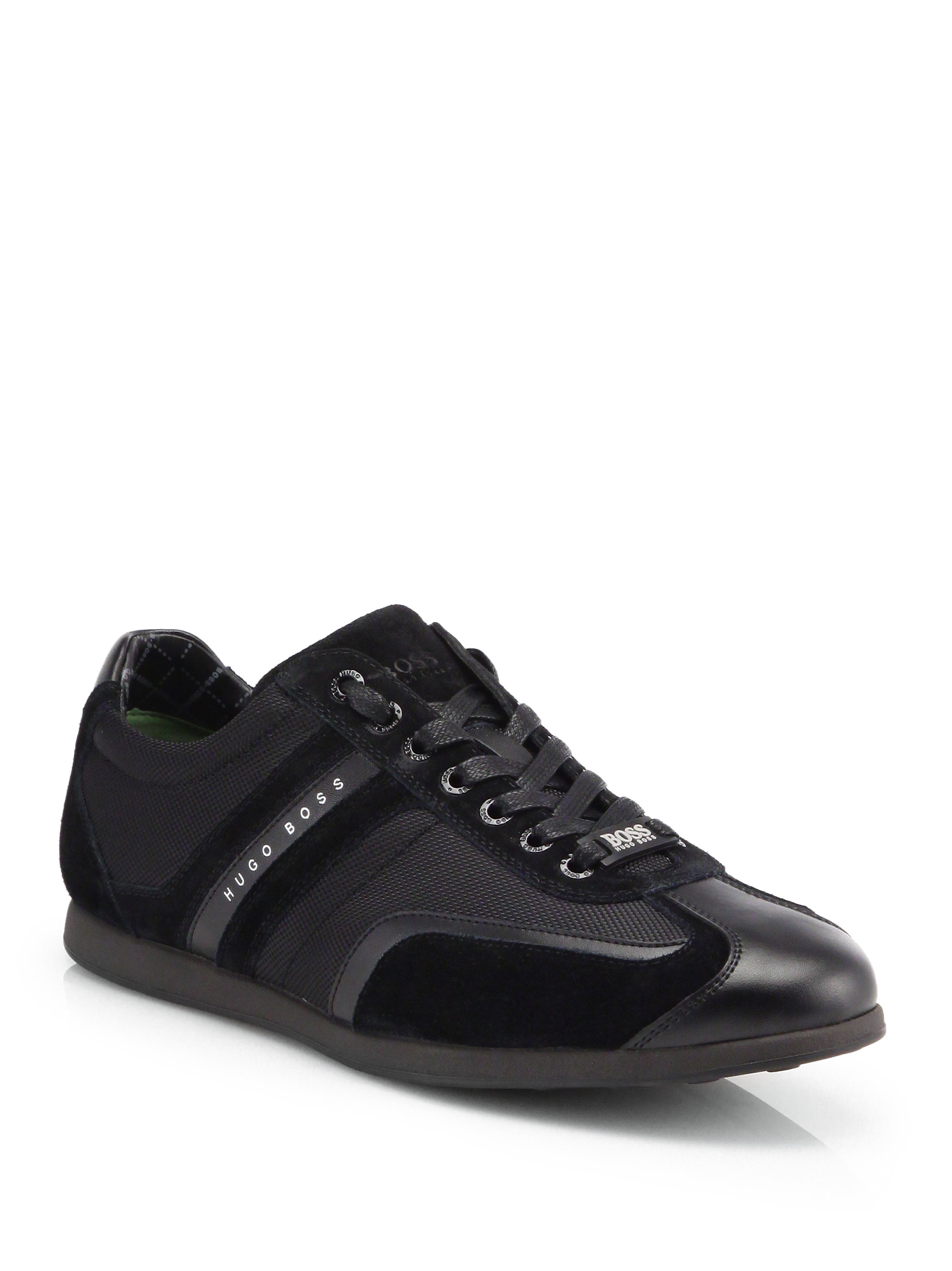 Hugo Boss Sneakers Boss By Hugo Boss Stiven Lowtop Sneakers In Black For Men
