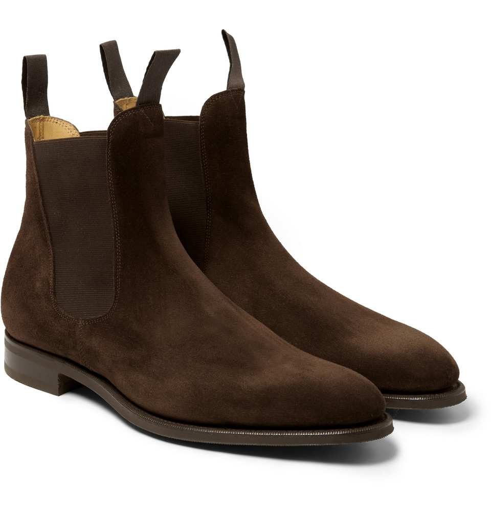 Lyst Edward Green Newmarket Suede Chelsea Boots In Brown