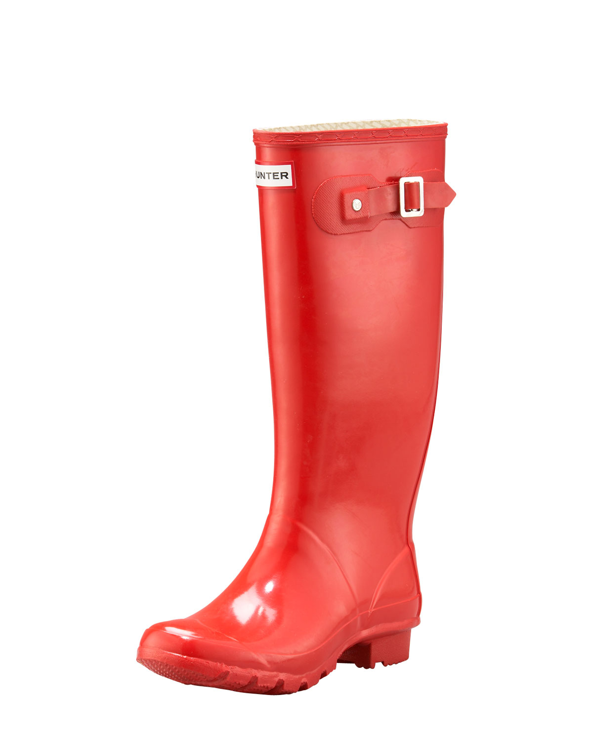 Hunter Huntress Welly In Red Lyst