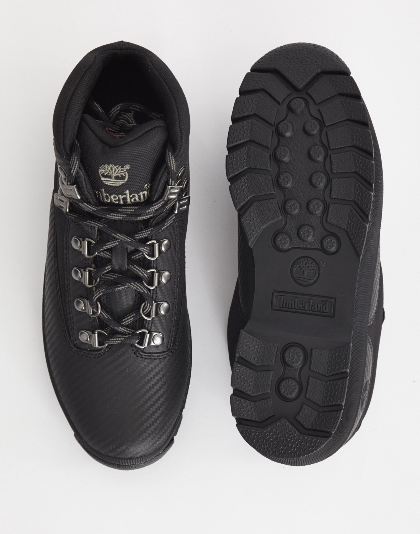 Timberland Euro Hiker Mid Fabric And Leather Boot Black In