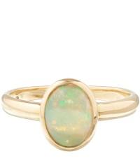 Kojis Gold Single Opal Stone Ring in Green | Lyst