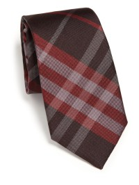Burberry Manston Check Silk Tie in Red for Men | Lyst