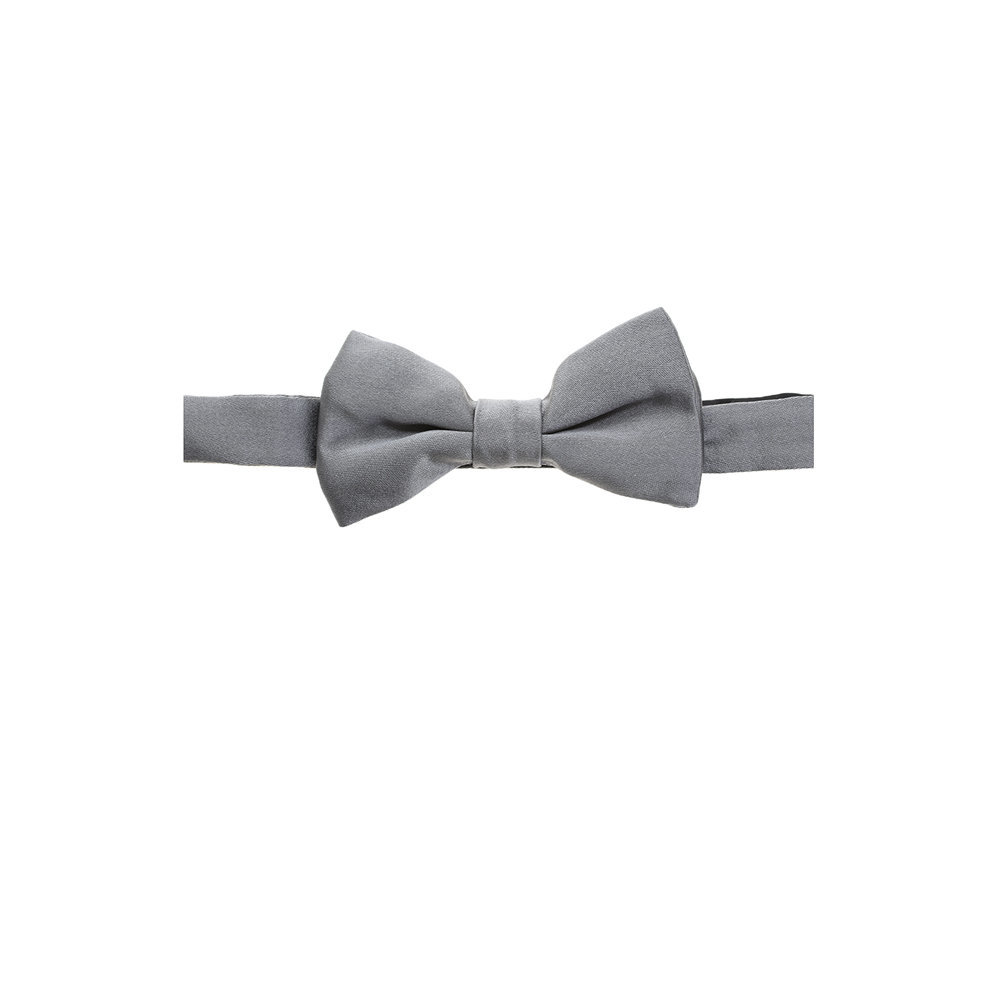 Valentino Light Grey Silk Bow Tie in Gray for Men (grey