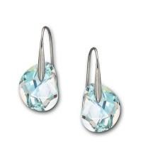 Swarovski Galet Crystal Aurora Borealis Earrings in Green ...