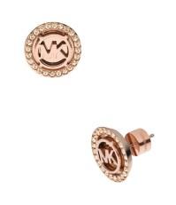 Michael kors Mk Monogram Pav Crystal Stud Earrings in ...