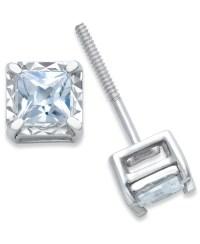 Macy's Diamond Stud Earrings (1/4 Ct. T.w.) In 14k White ...