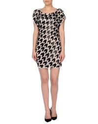 John galliano Short Dress in Beige | Lyst