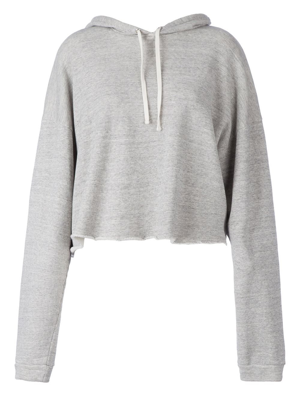 Sweater Hoodie Gap Faith Connexion Cropped Hoodie In Gray Grey Lyst