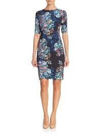 L.k.bennett Elbow Sleeve Floral-print Dress | Lyst