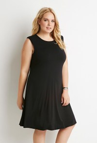 Forever 21 Plus Size Classic Sheath Dress in Black