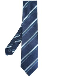 Brioni Striped Tie in Blue for Men | Lyst