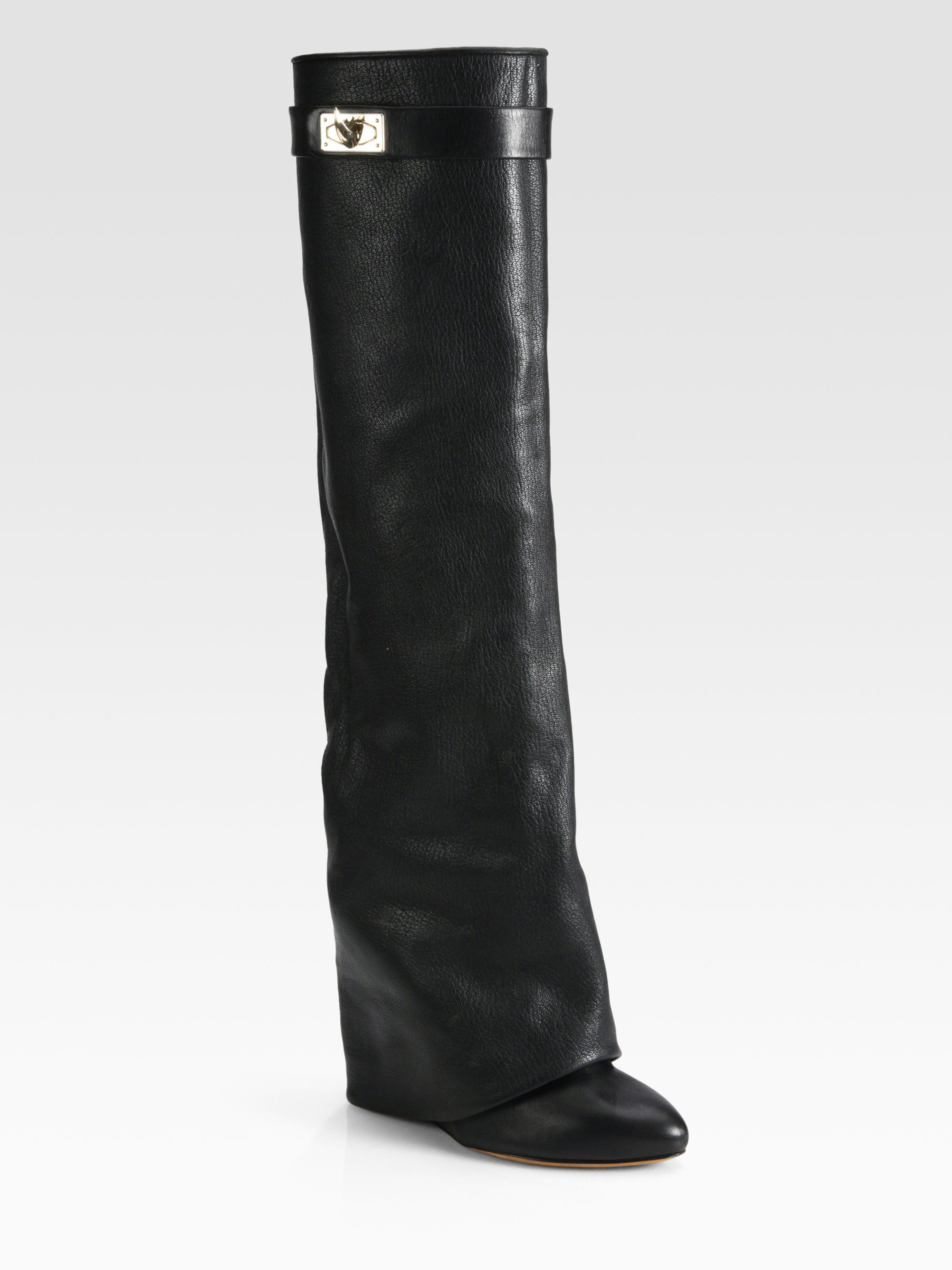 Lyst Givenchy Leather Kneehigh Sheath Boots In Black