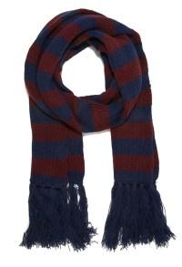 Forever 21 Striped Fringe Scarf in Blue for Men