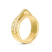Carbon & hyde Hourglass Ring in Yellow (14K Yellow Gold ...