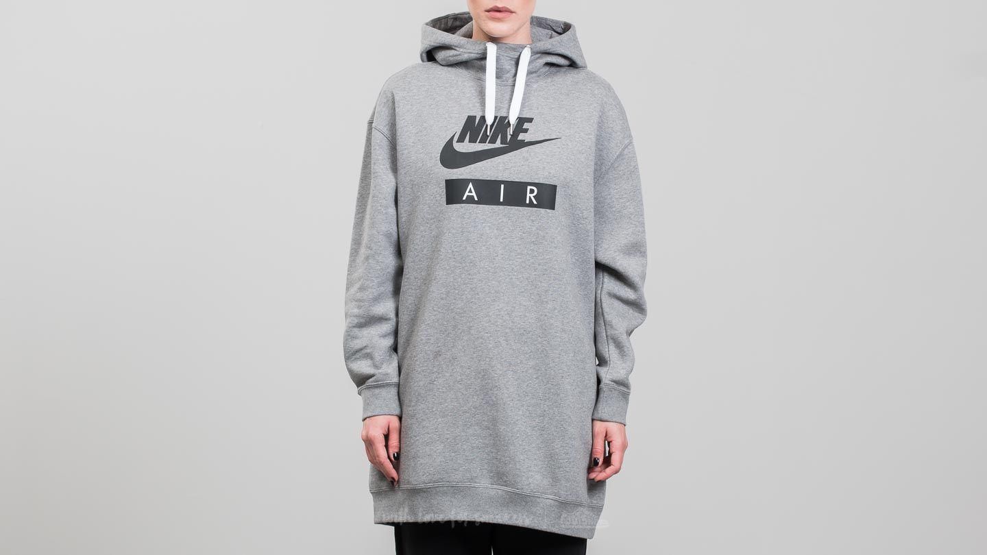 Nike Hoodie Carbon Heather Nike Synthetic Sportswear Air Hoodie Dress Carbon Heather