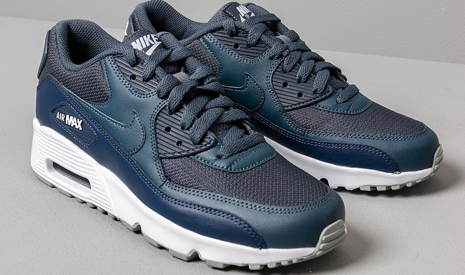 Nike Leather Air Max 90 Mesh Gs Monsoon Blue Monsoon
