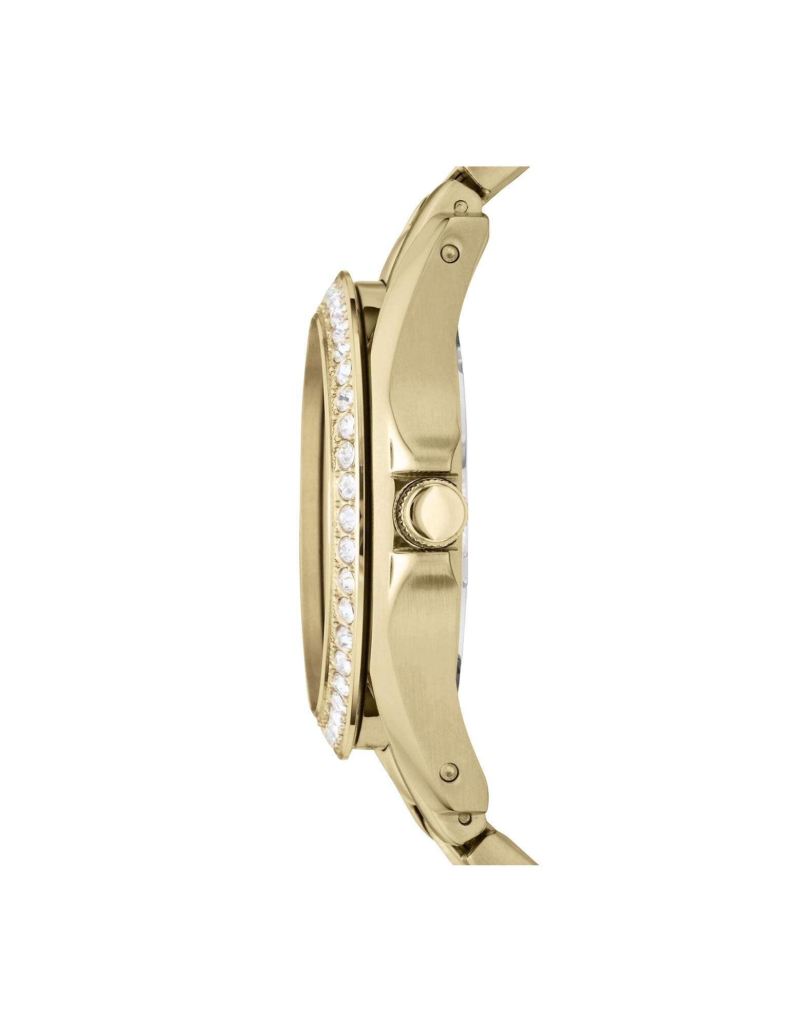 Fossil Riley Lyst Fossil Riley Multi Function Gold Tone Women S Watch In