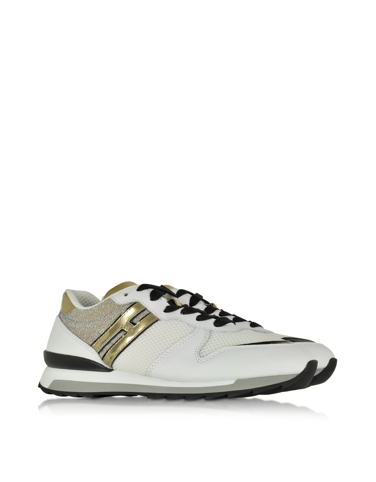 Forzieri Hogan Hogan Rebel White Fabric And Leather Sneaker In White Lyst