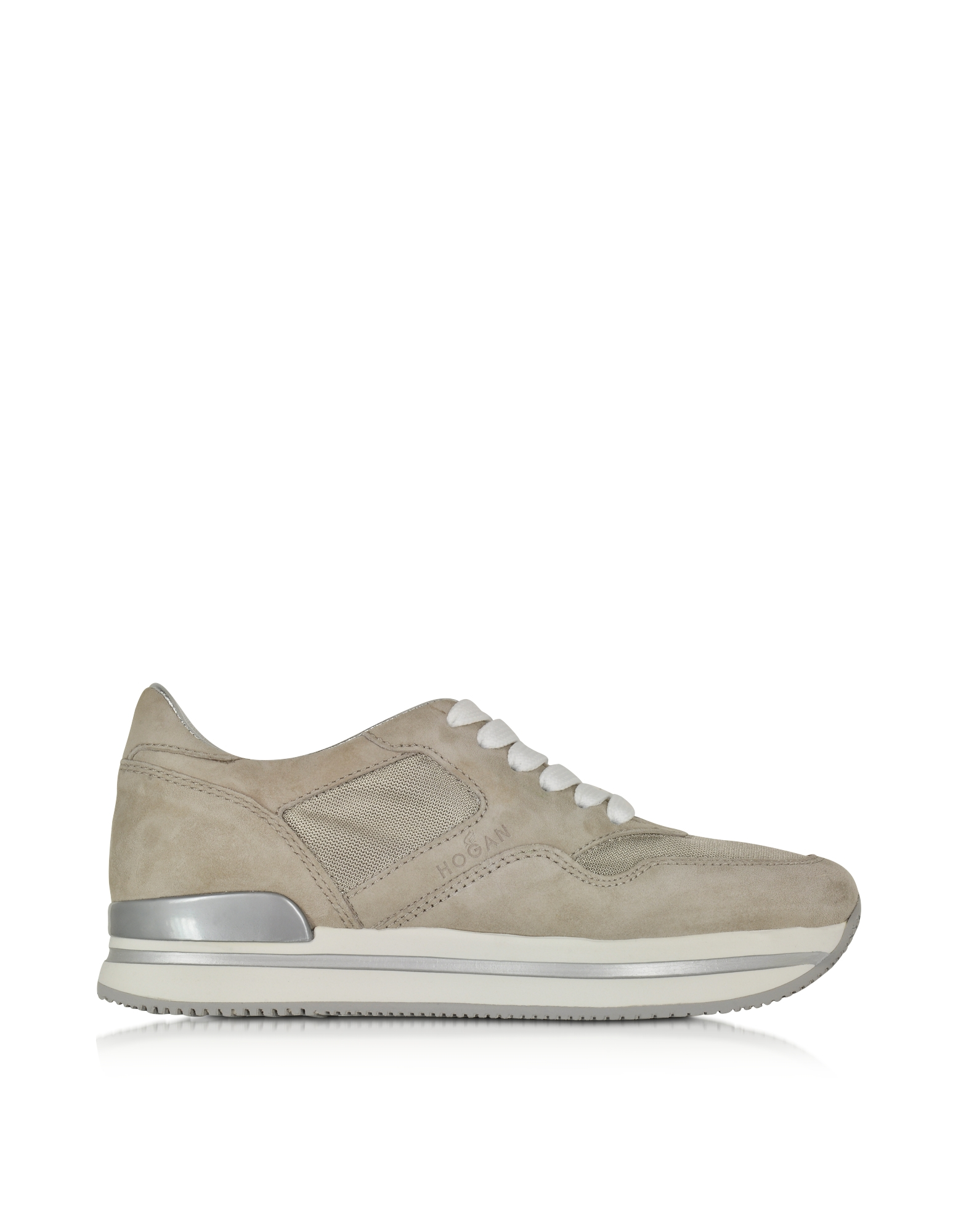 Forzieri Hogan Hogan Beige Fabric And Suede Sneaker In Natural Lyst