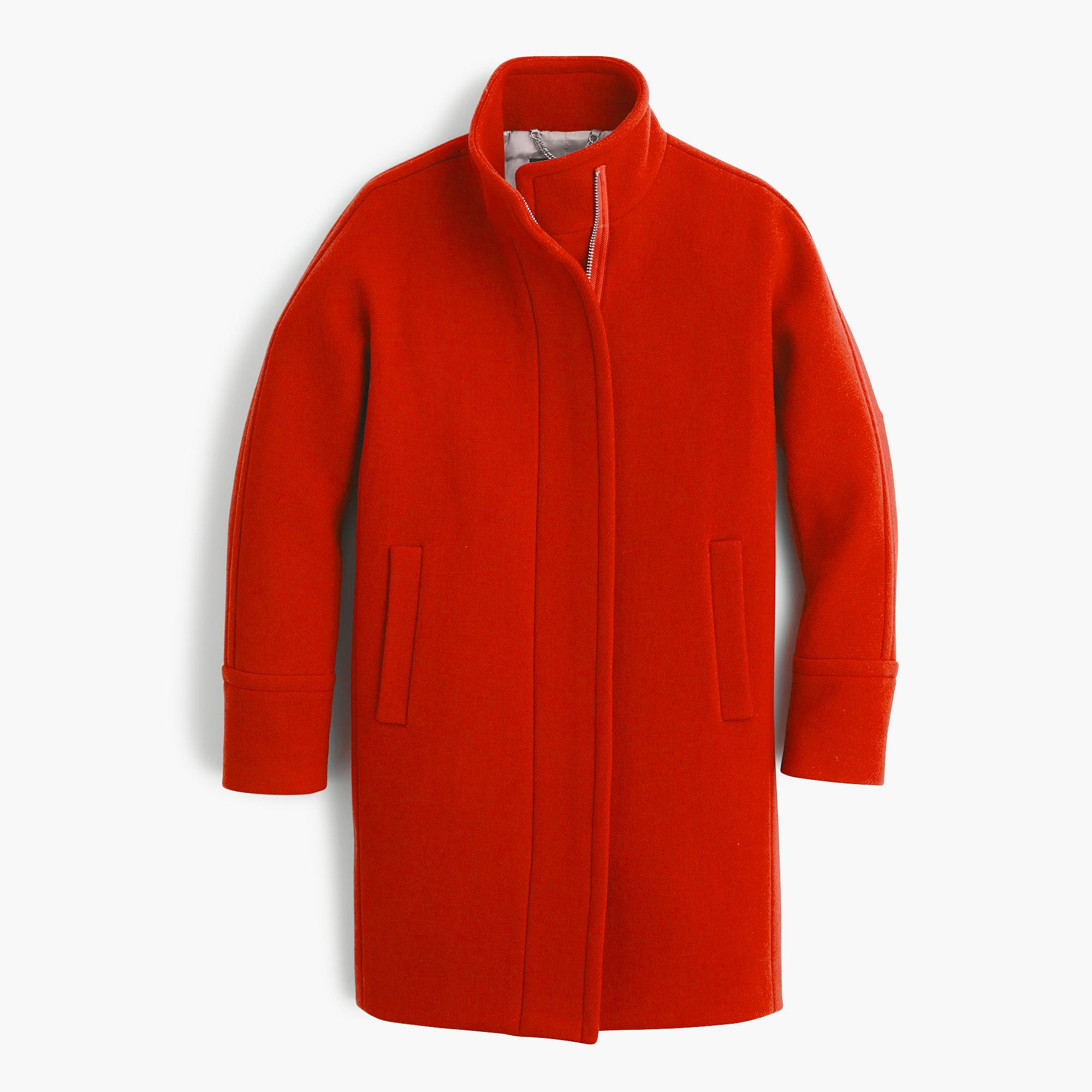 Cocoon München J.crew Wool Stadium-cloth Cocoon Coat In Red - Lyst