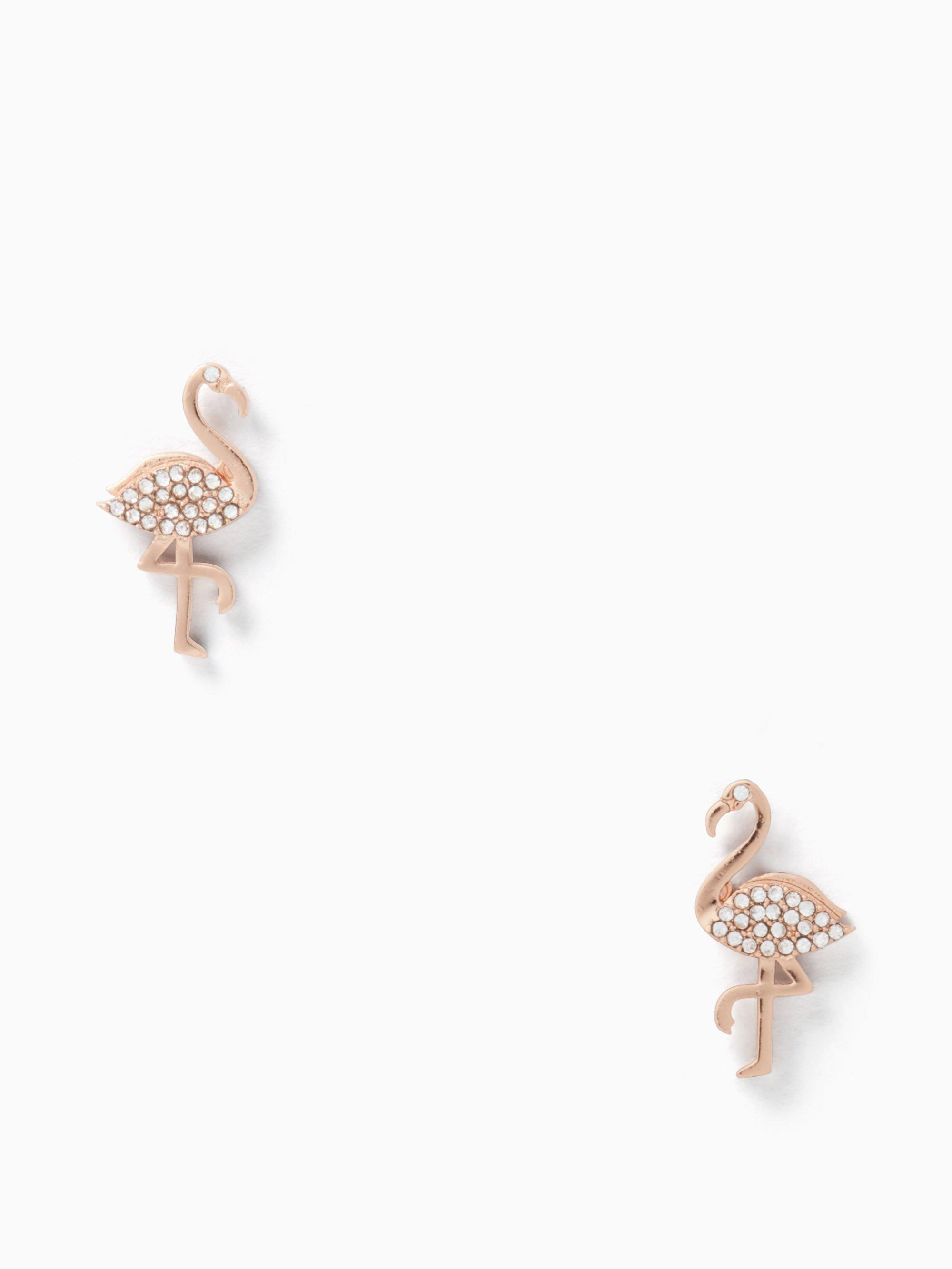 By The Pool Flamingo Kate Spade Kate Spade Metallic By The Pool Flamingo Studs
