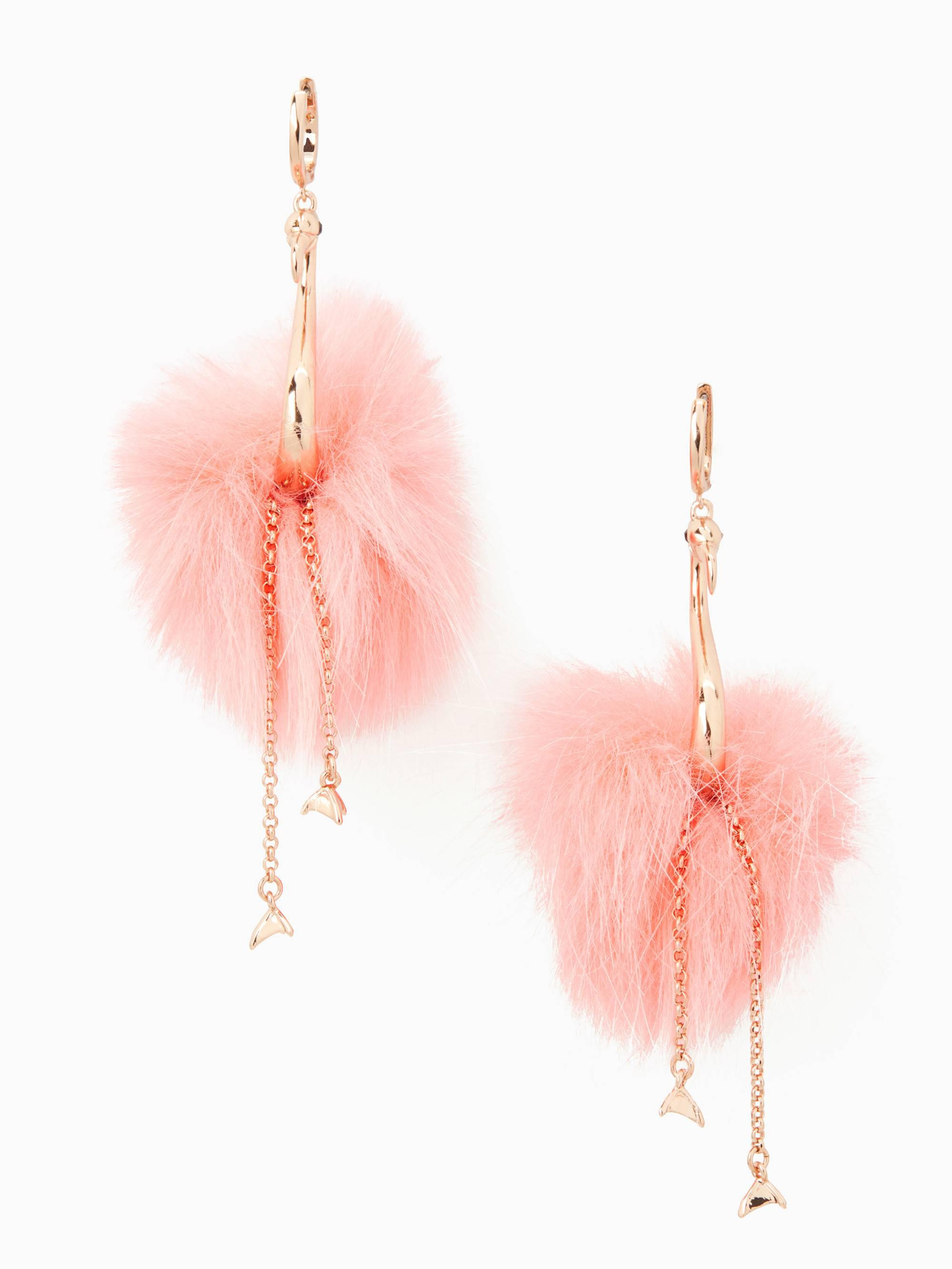 By The Pool Flamingo Kate Spade Kate Spade By The Pool Flamingo Statement Earrings In Pink Lyst