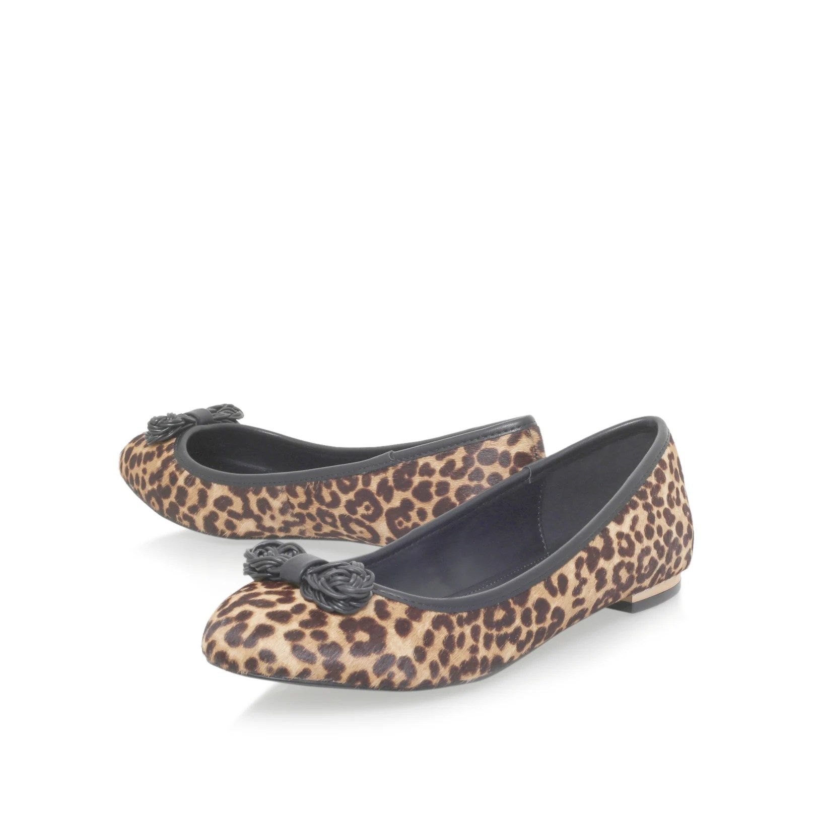Libras A Quilos Kg By Kurt Geiger Libra Flat Slip On Print Shoes In Brown