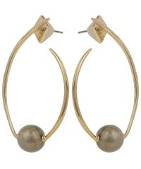 Alexis bittar Gold Coiled Pearl Post Earrings in Metallic ...