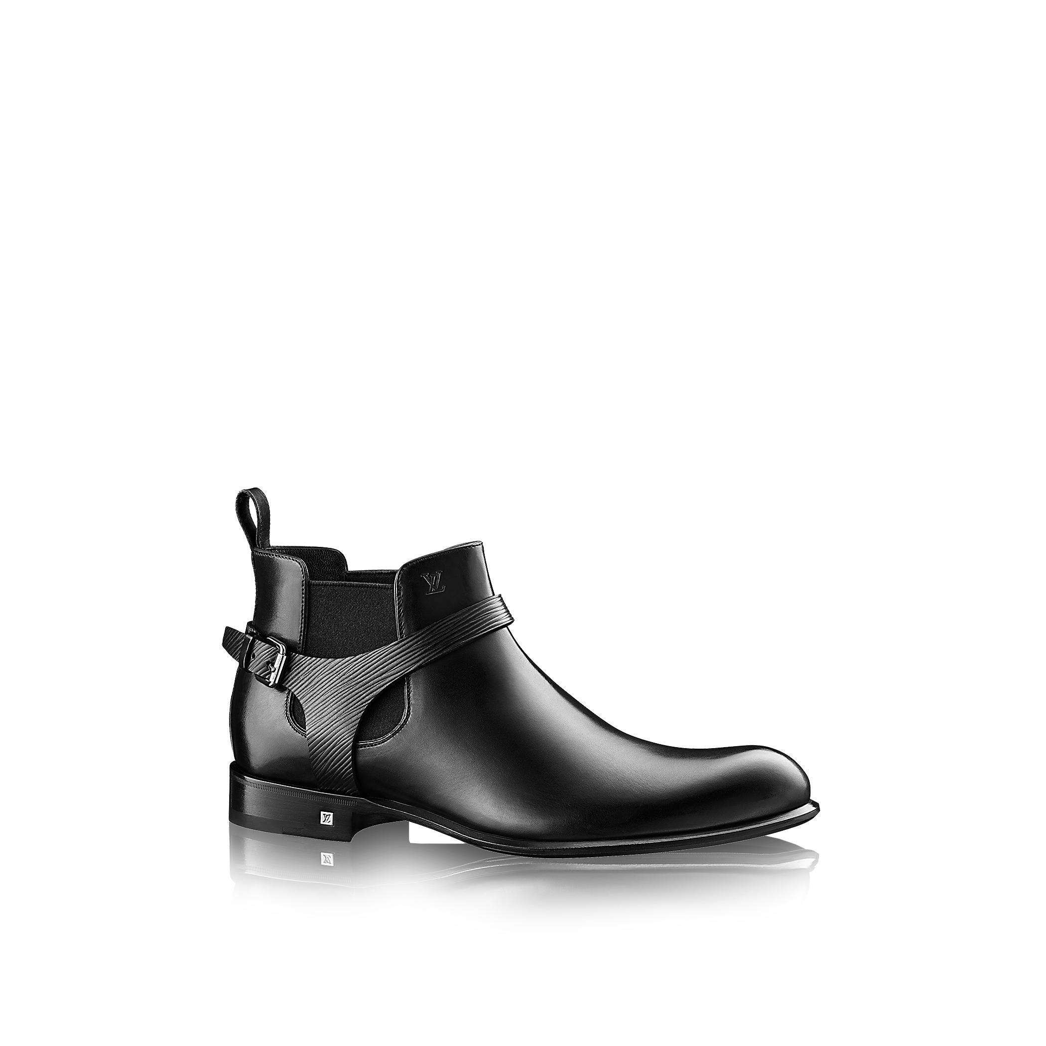 Louis Vuitton Greenwich Ankle Boot In Black For Men Lyst