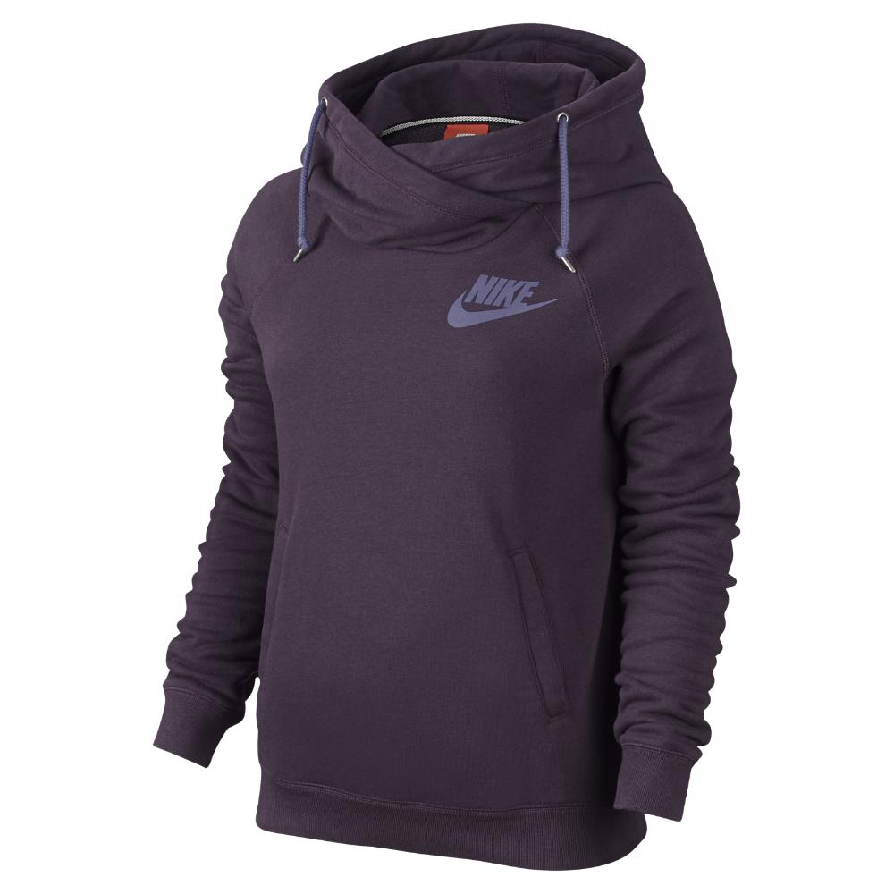 Adidas Pullover Sweatshirt Nike Rally Funnel Neck Pullover Women 39;s Hoodie In Purple