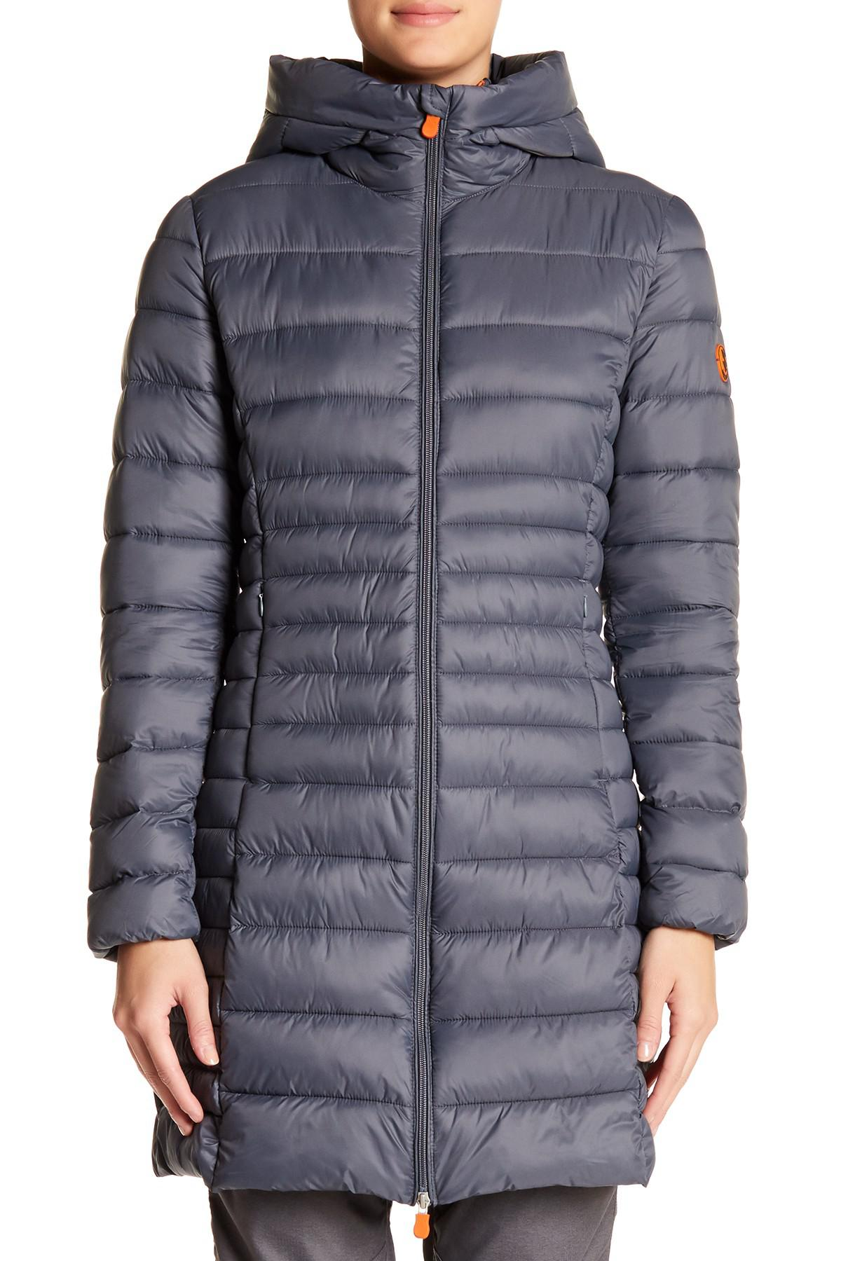 Lyst Save The Duck Long Hooded Basic Parka - Save The Duck