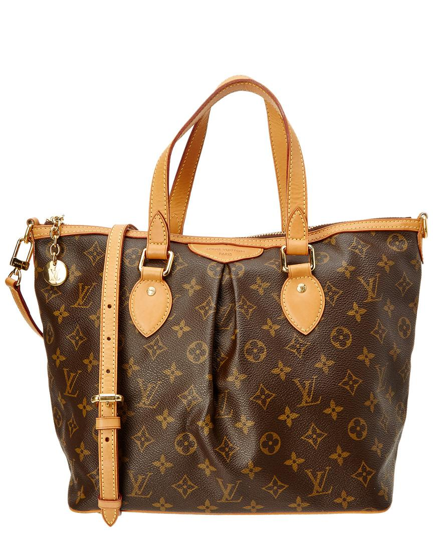 Louis Vuitton Tivoli Vs Palermo Lyst Louis Vuitton Monogram Canvas Palermo Pm In Brown