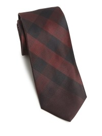 Lyst - Burberry Checkered Silk Tie in Black for Men