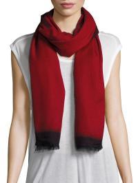 Bajra Cashmere & Silk Scarf in Red | Lyst