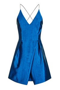 Topshop Crinkle Satin Prom Dress in Blue (ROYAL)   Lyst