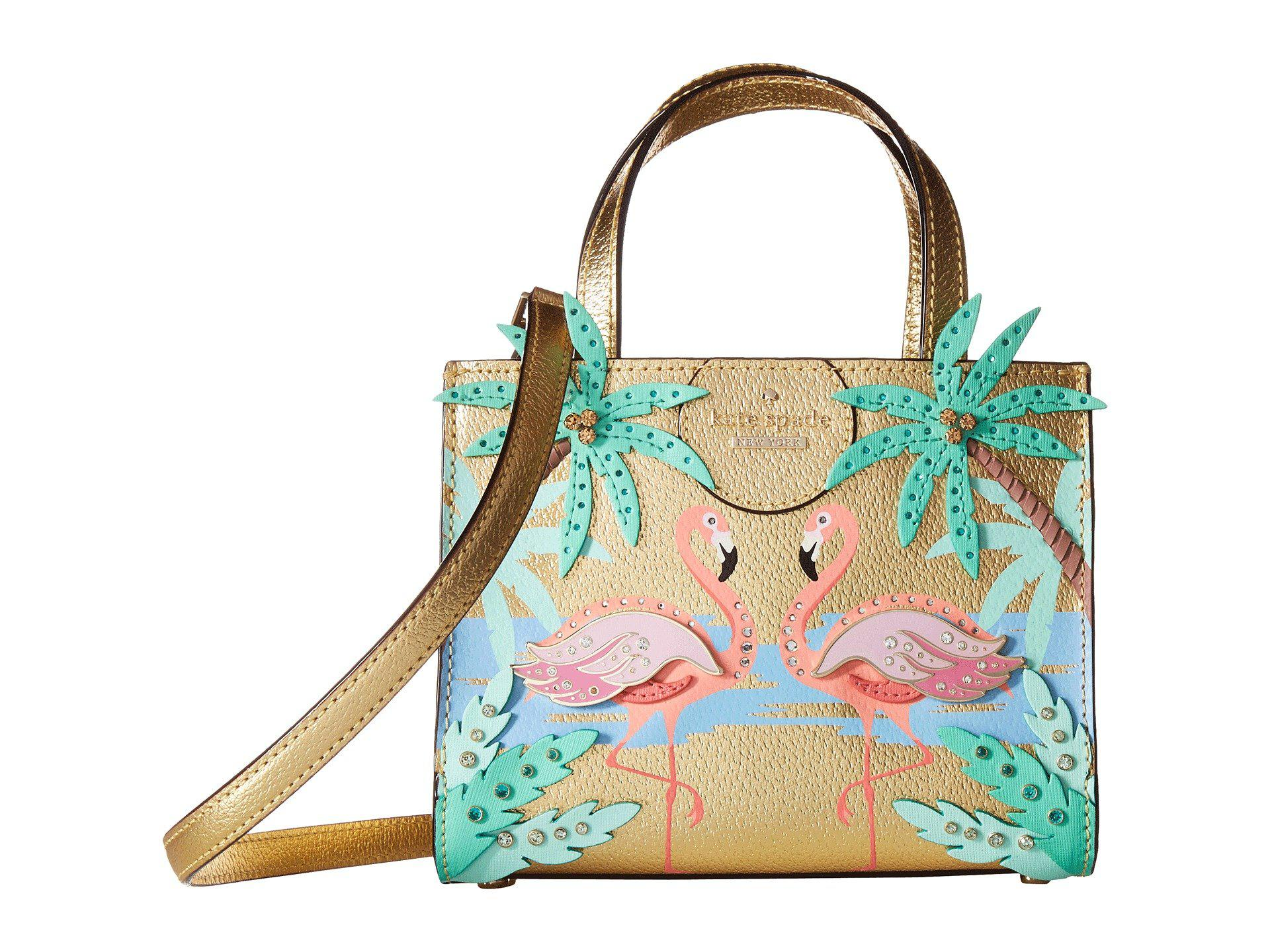 By The Pool Flamingo Kate Spade Kate Spade Multicolor By The Pool Flamingo Scene Small Sam