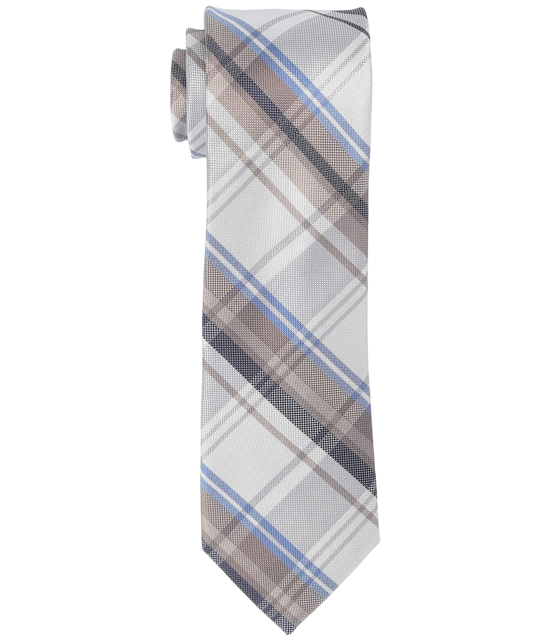 Plaid Taupe Lyst Kenneth Cole Reaction Isaac Plaid Taupe Ties In Gray For Men