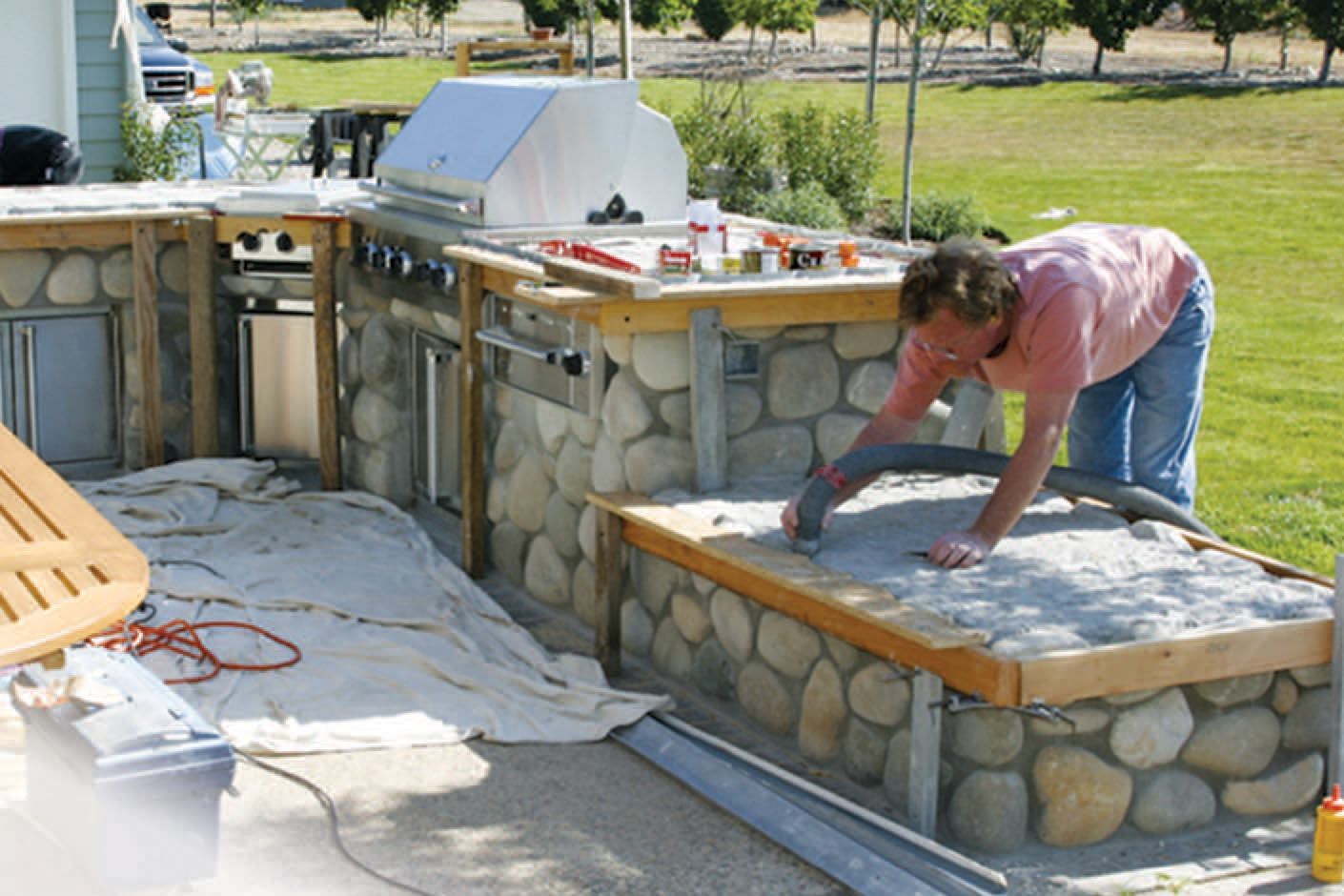 Concrete Countertop Reinforcement Tiling An Outdoor Countertop With A Reinforced Mortar Bed