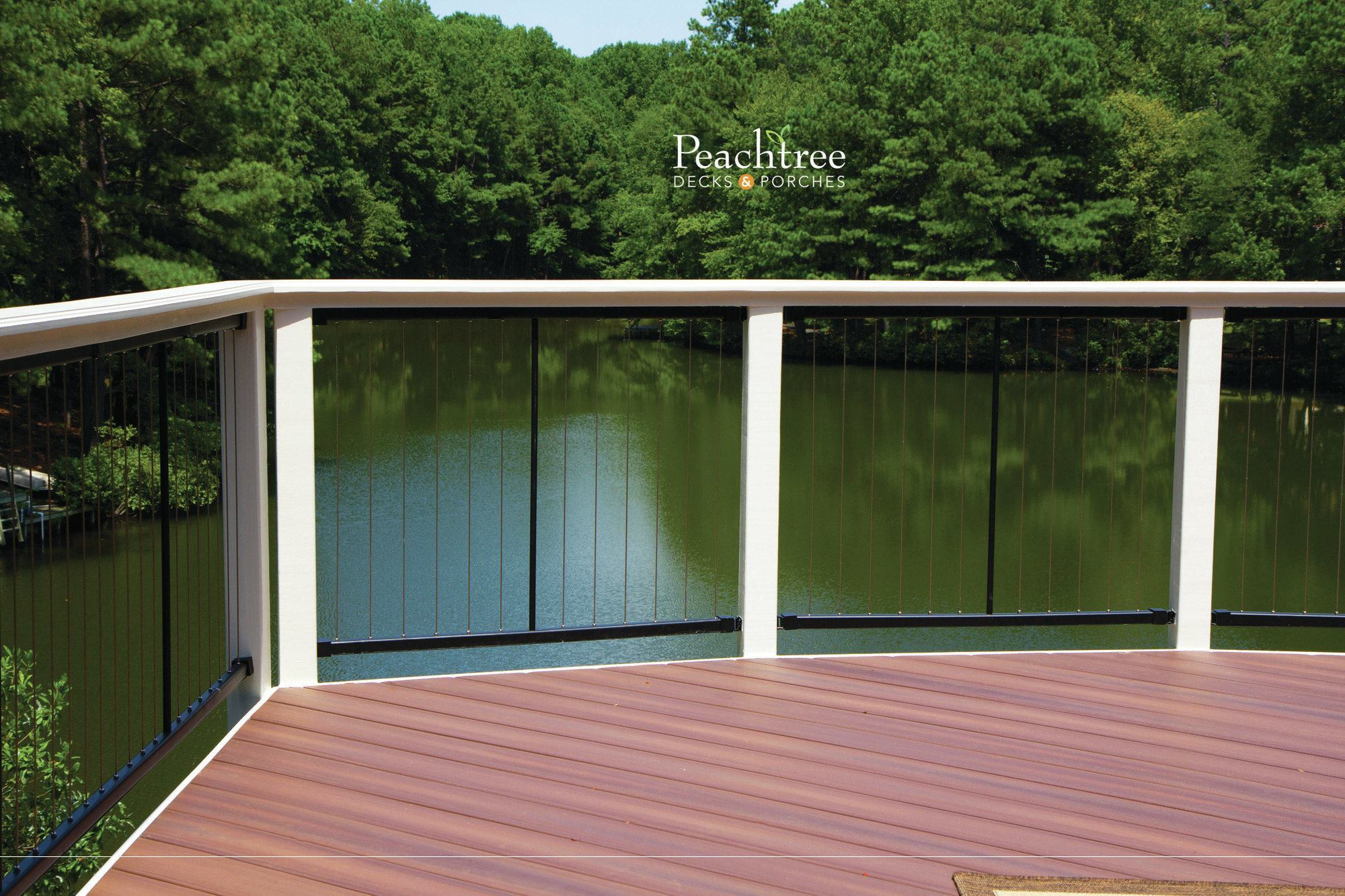 Decking Panels Cable Railing Caution Professional Deck Builder Fencing And