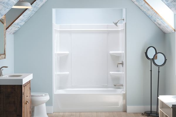 Pocket French Doors Sterling Offers A Caulk-free Shower Installation | Builder
