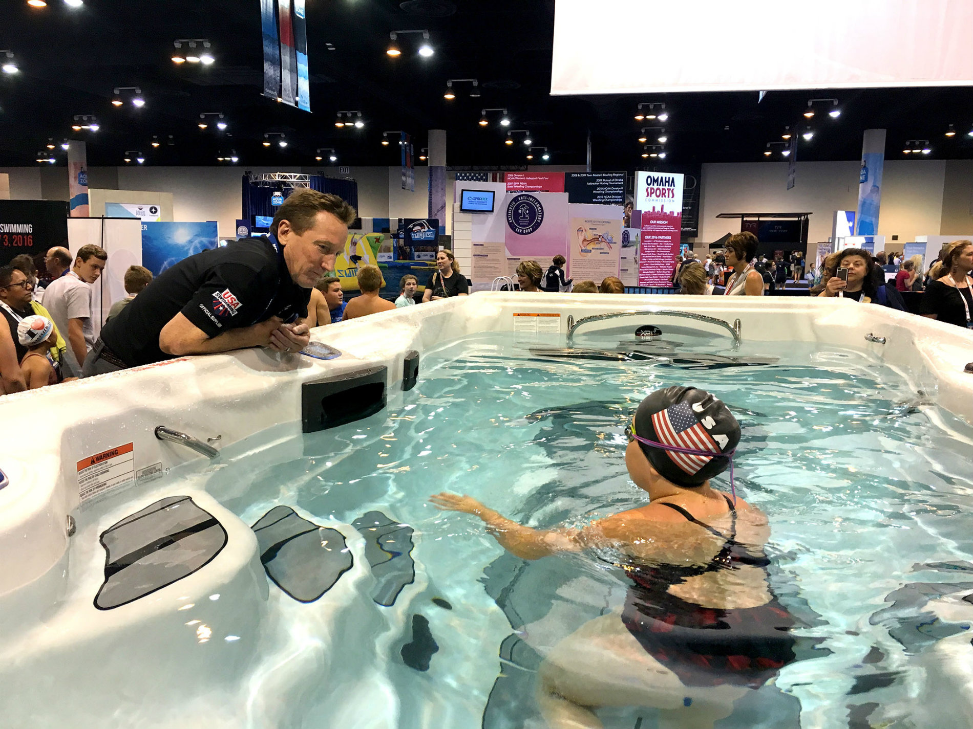 Master Spas Holds Michael Phelps Swim Spa Challenge At U S