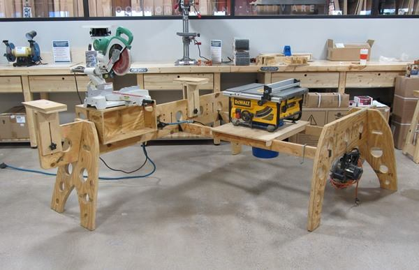 Clever Home Built Sawhorse Work Station Tools Of The