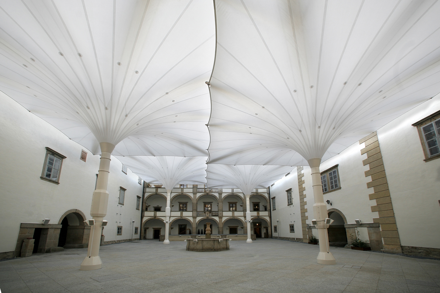 Materiel Culture Interieur Castle Weitra Courtyard Architect Magazine Sefar