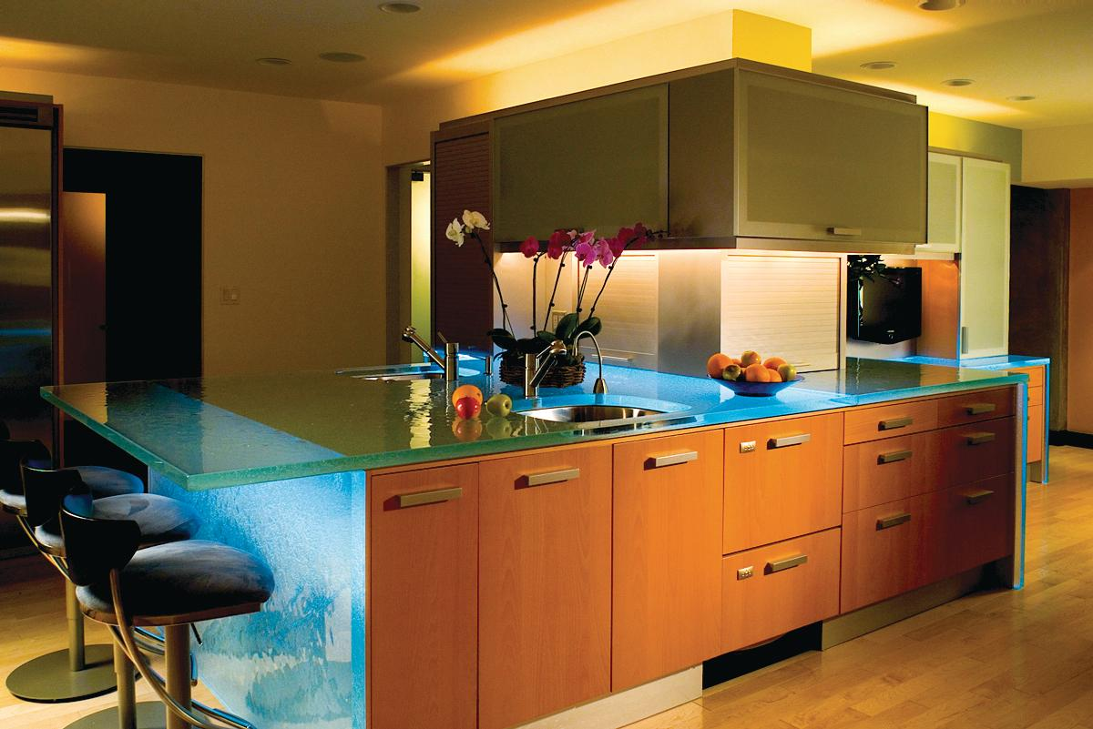 Think Glass Countertops Thinkglass Led Countertops Remodeling Countertops Kitchen
