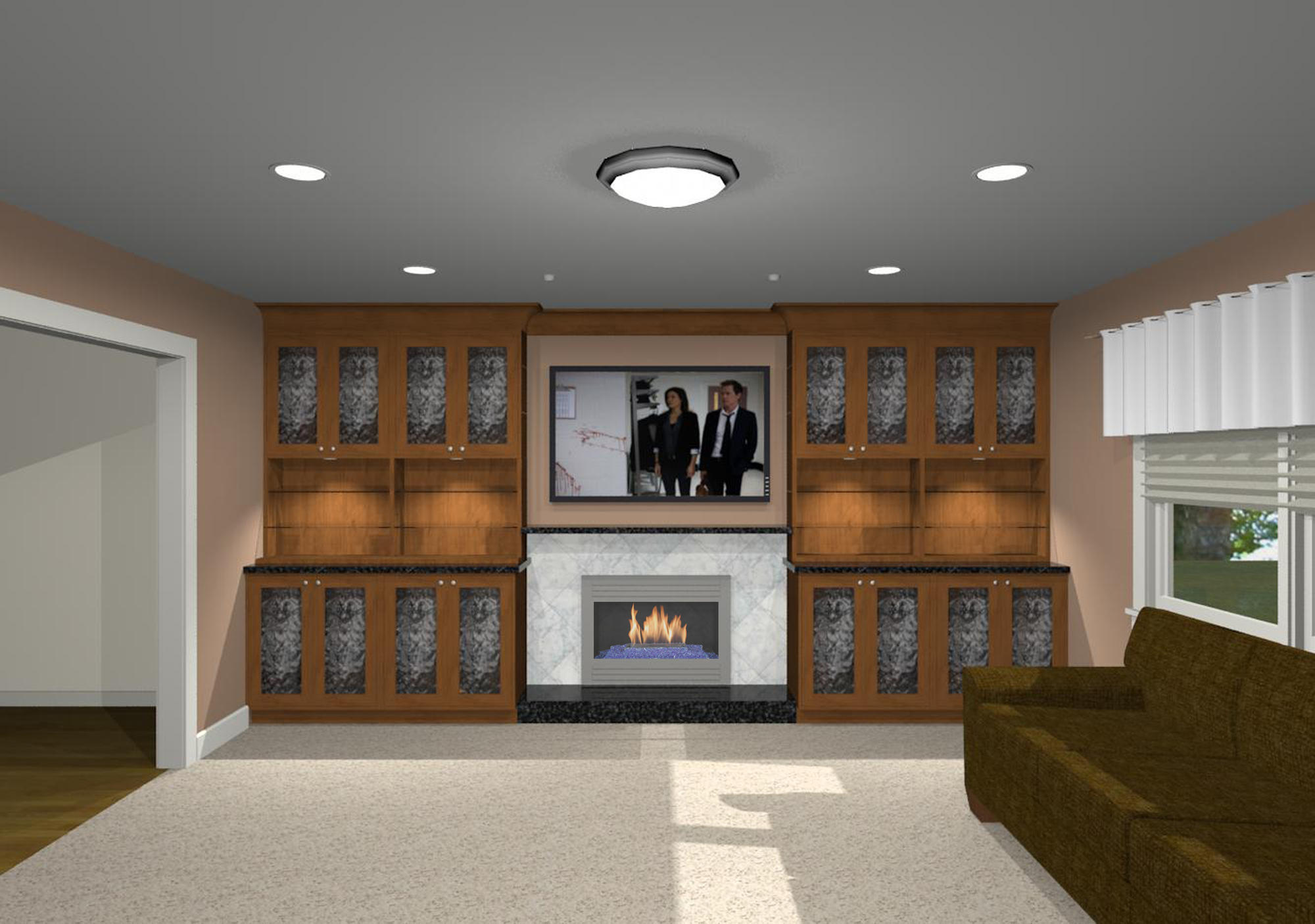 Wood Wall Behind Tv Tips For Installing A Television Over A Fireplace Remodeling