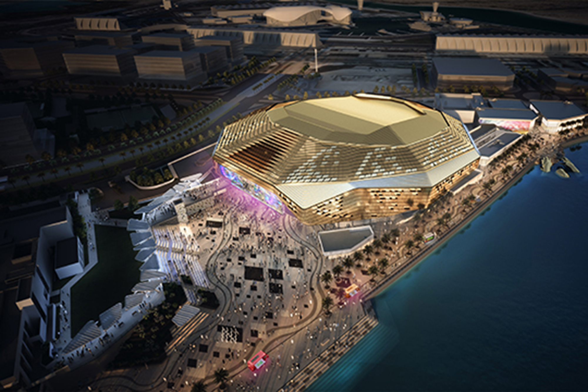 Lounge Insel Atlanta Yas Arena Architect Magazine Hok Abu Dhabi United Arab