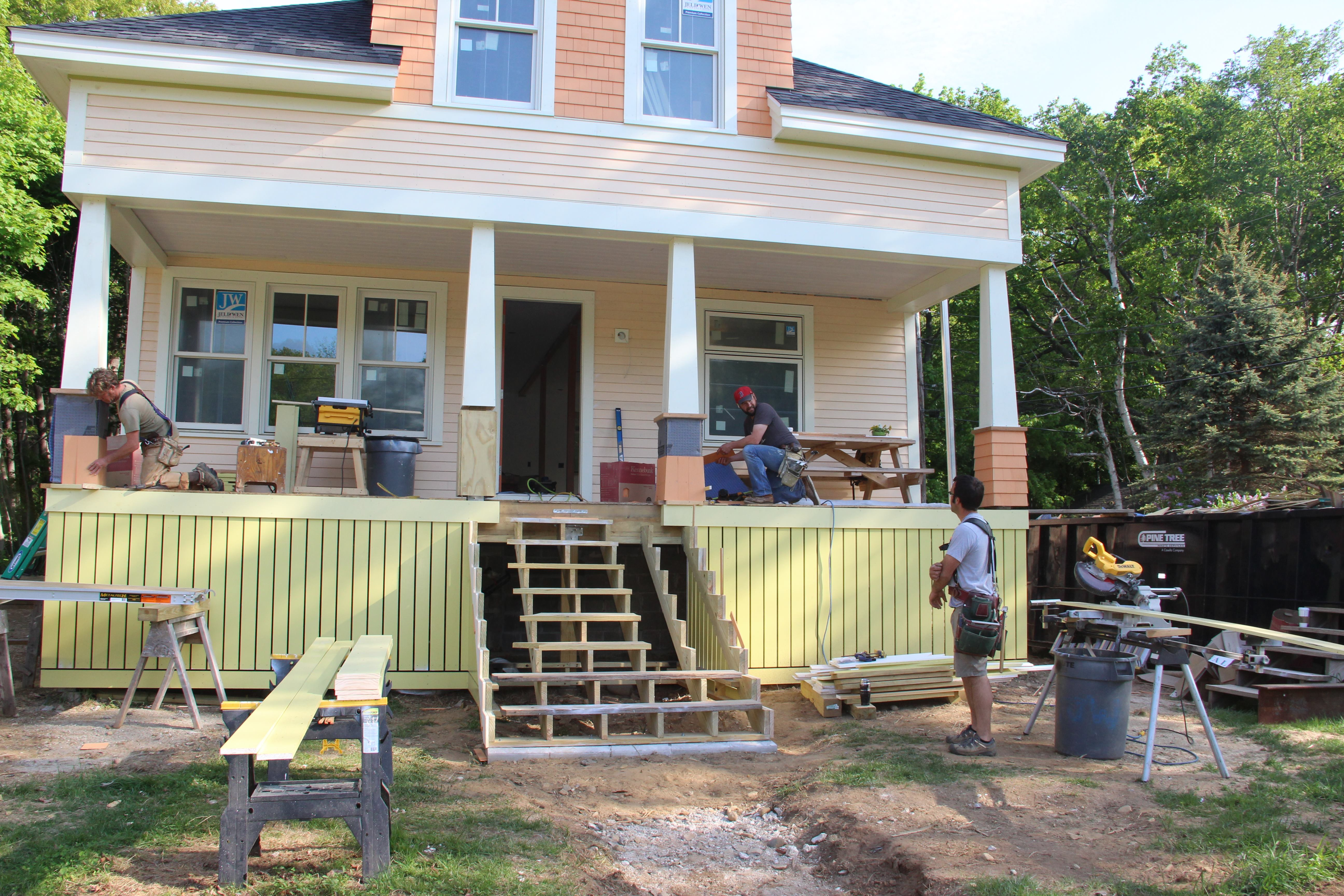 How To Get Power To Kitchen Island Craftsman Porch Columns For An Island Home | Jlc Online