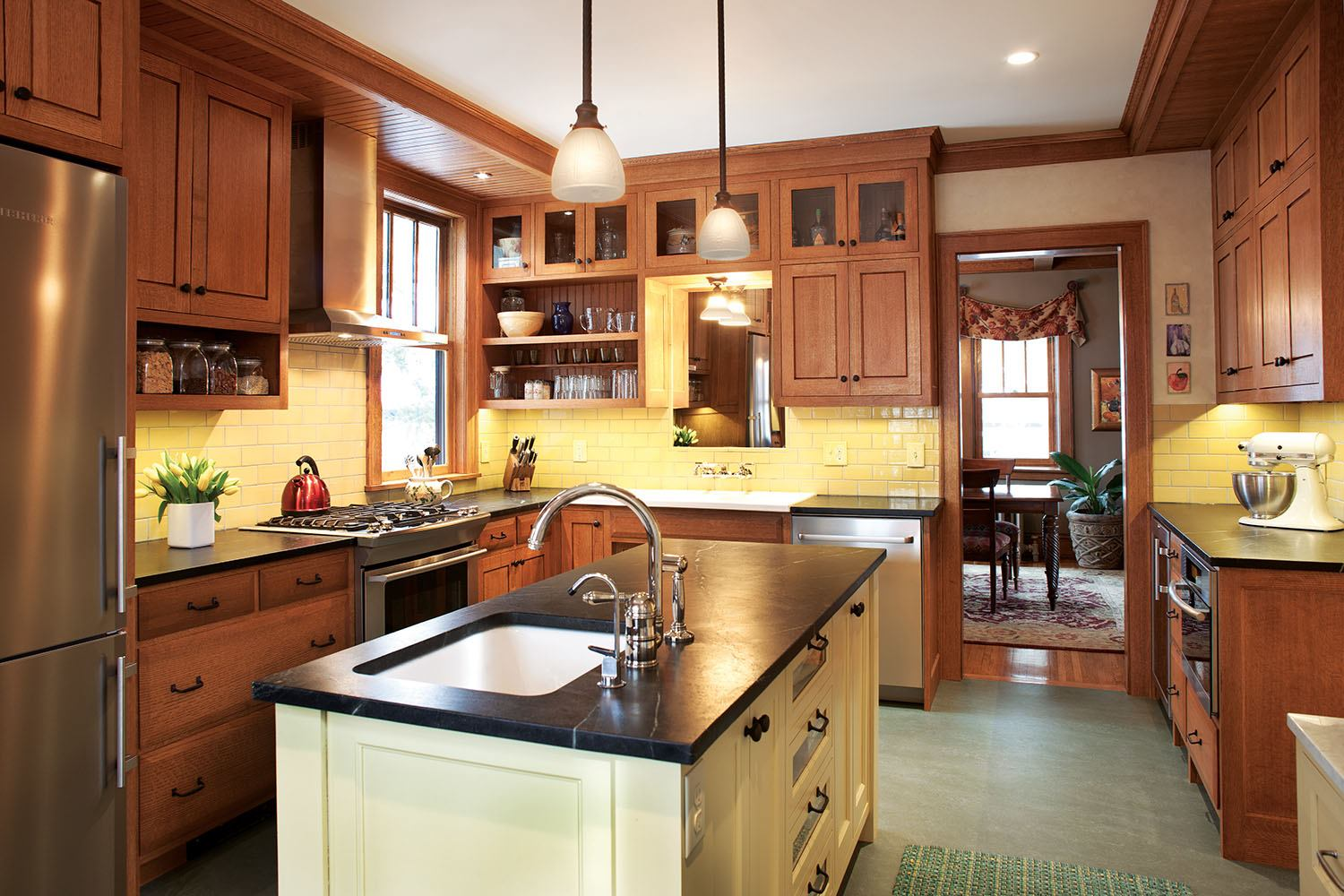 Custom Home Builders In Los Angeles A Minneapolis Kitchen Remodel Captures The True Craftsman