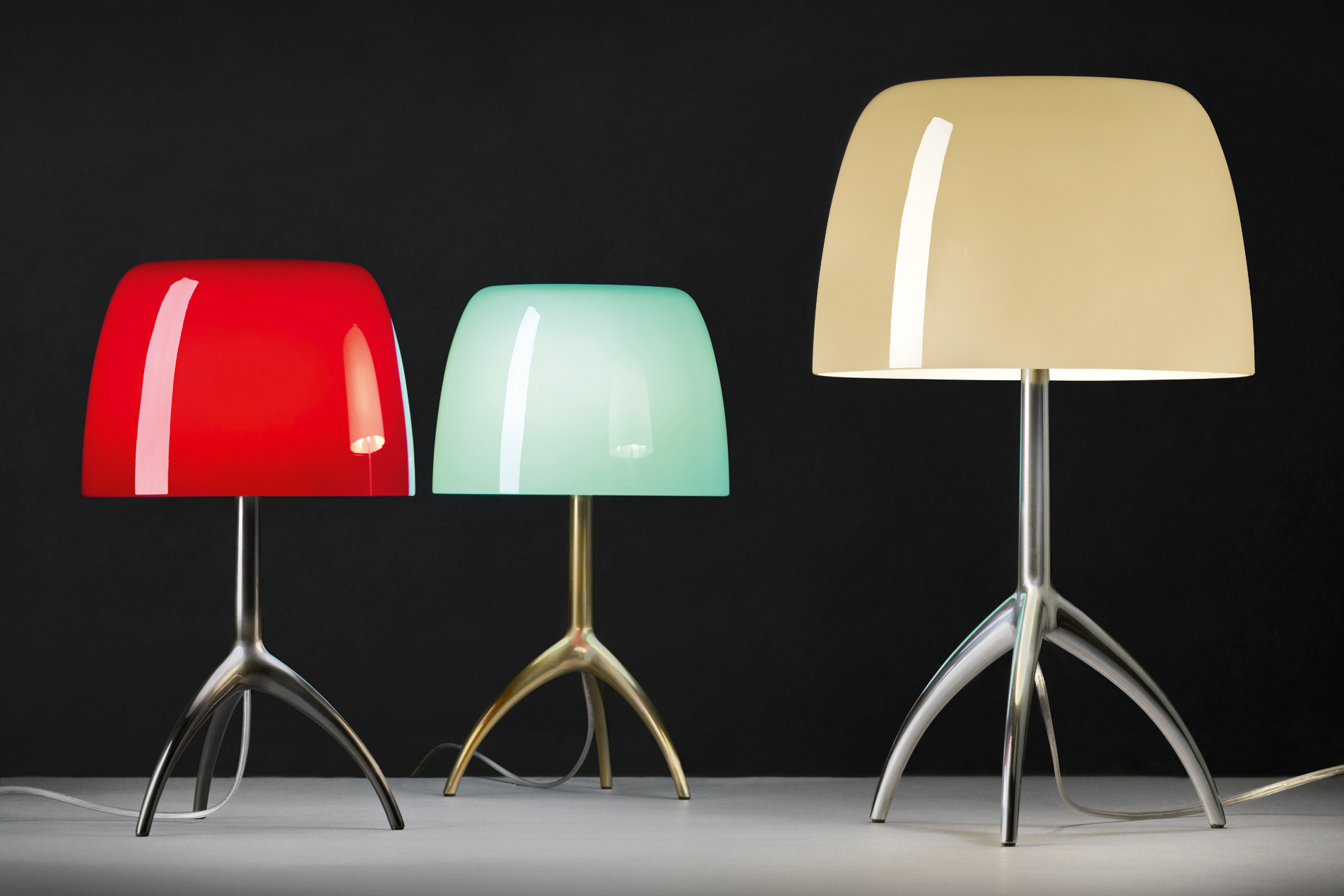Table Lamp Tripod Foscarini Celebrates 25 Years Of The Lumiere Table Lamp