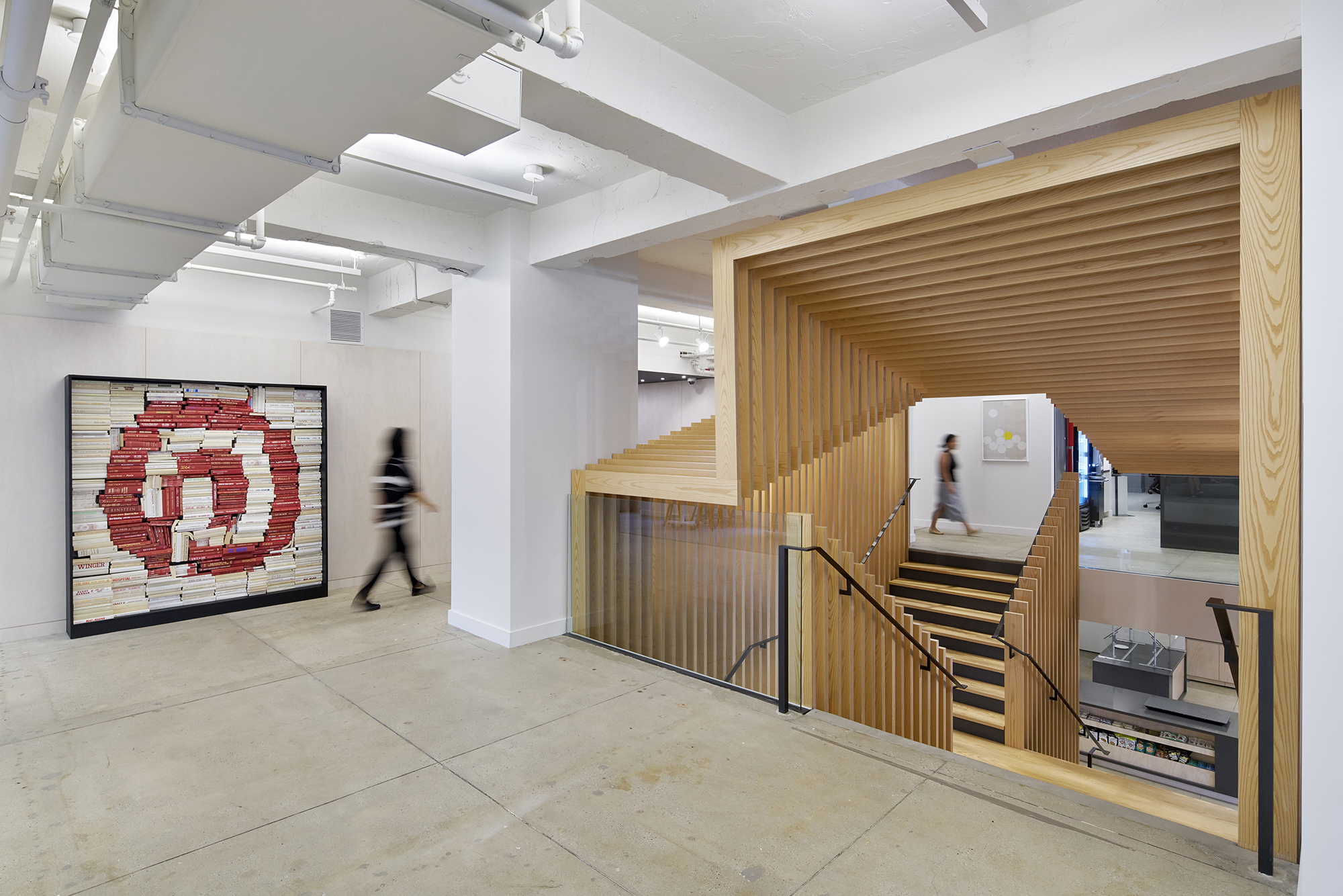 Pinterest39s New York Office Scissor Stair Architect Magazine Wood Staircases Structure